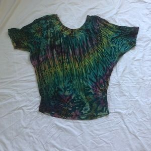 Mexicali Blues Mudmee Tie Dye Dolman Tunic